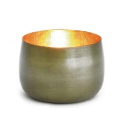 Teelichthalter Cup messingf./golden