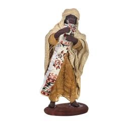 Krippenfigur Teppichhändler dunkelhäutig 12 cm