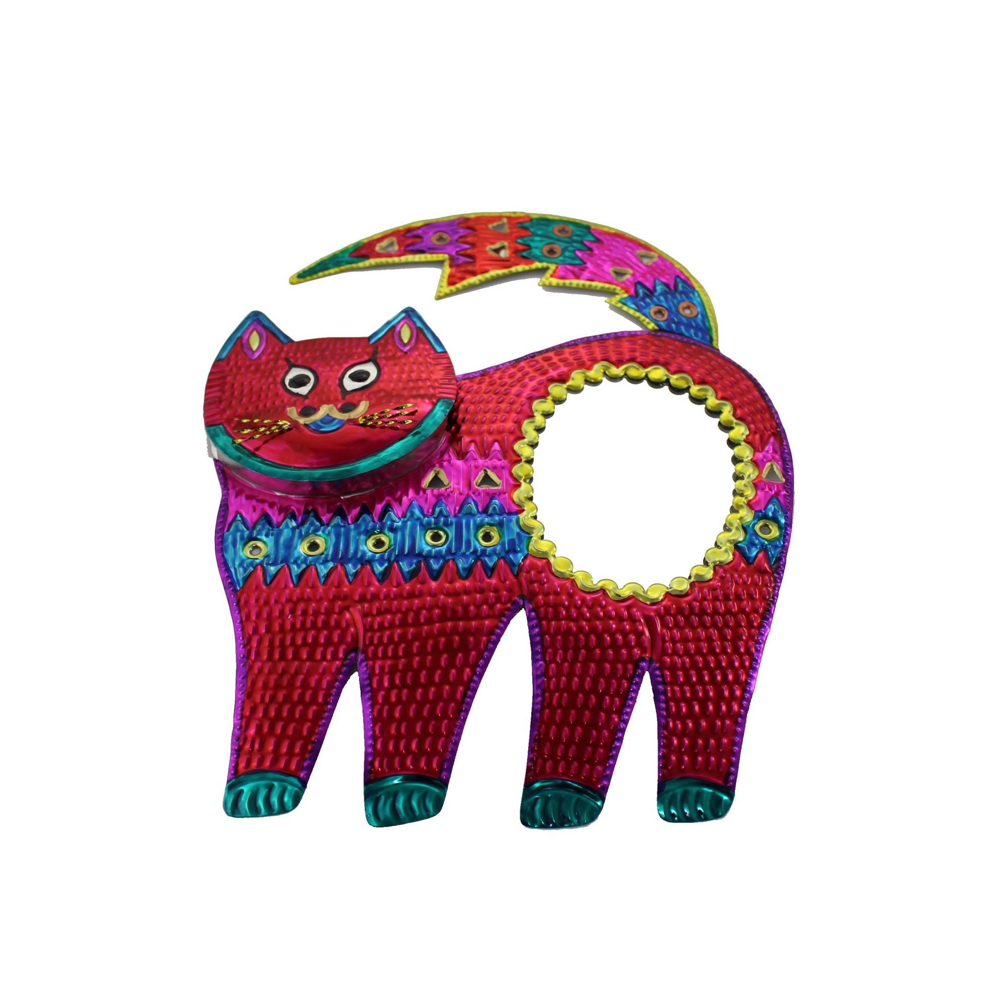 Wanddeko deko wandspiegel katze rot kaufen - Deko wandspiegel ...