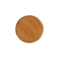 Handgemachter Magnet rund aus Holz Buchenholz 4cm