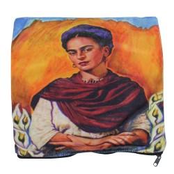 Kissenbezug Frida mit rotem Schal