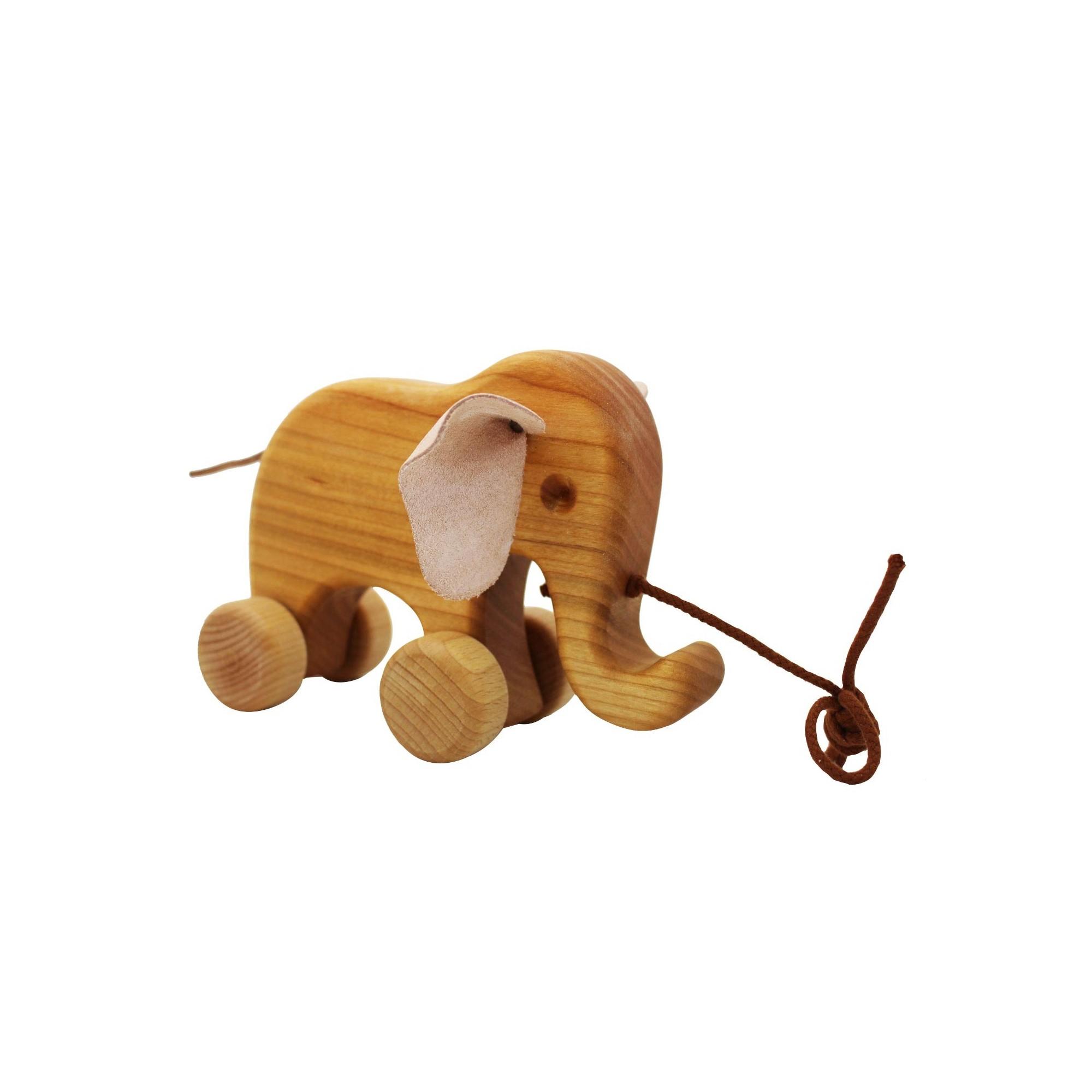 ziehtier elefant bruno aus holz kaufen. Black Bedroom Furniture Sets. Home Design Ideas