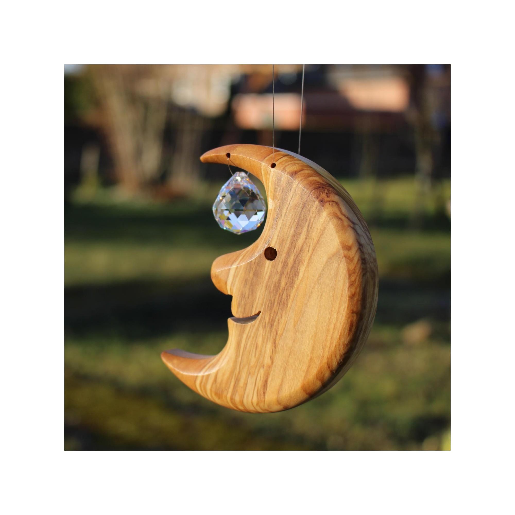 Kleine Eckbank Holz: Fensterdeko Mond Klein Mit Kristallkugel