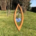 Fensterdeko aus Holz | Segel klein mit Bleikristall