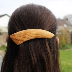 Haarspange Greta aus Holz, Haarschmuck