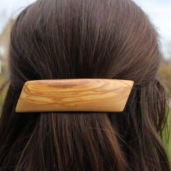 Haarspange Klara aus Holz, Haarschmuck M8
