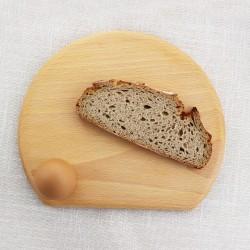 Frühstücksbrettchen halbrund mit Loch