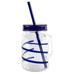 Trinkbecher mit Schraubdeckel, Twist blue