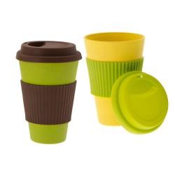 2 tlg. Bambus To Go Kaffee oder Tee Becher - Öko Bamboo