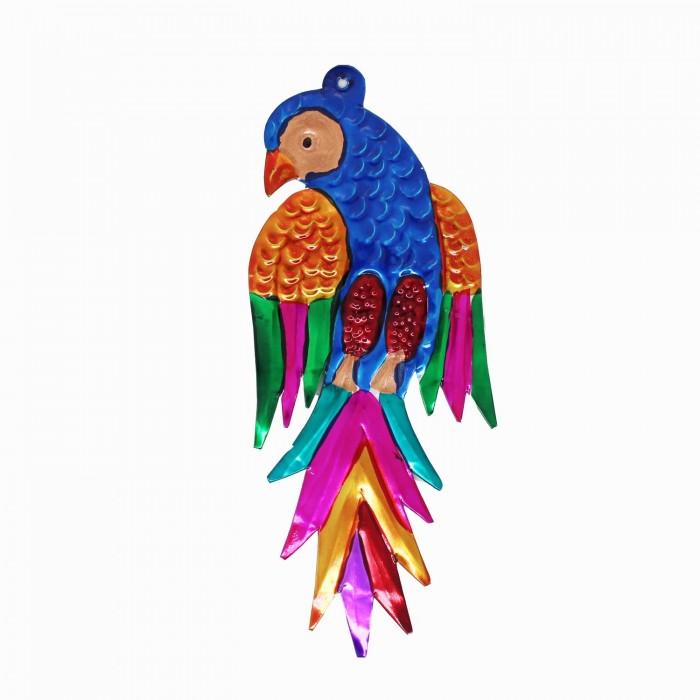 Wanddeko Papagei 12cm, Dekoanhänger