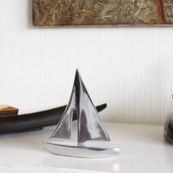 Deko-Figur Segelboot aus Zinn