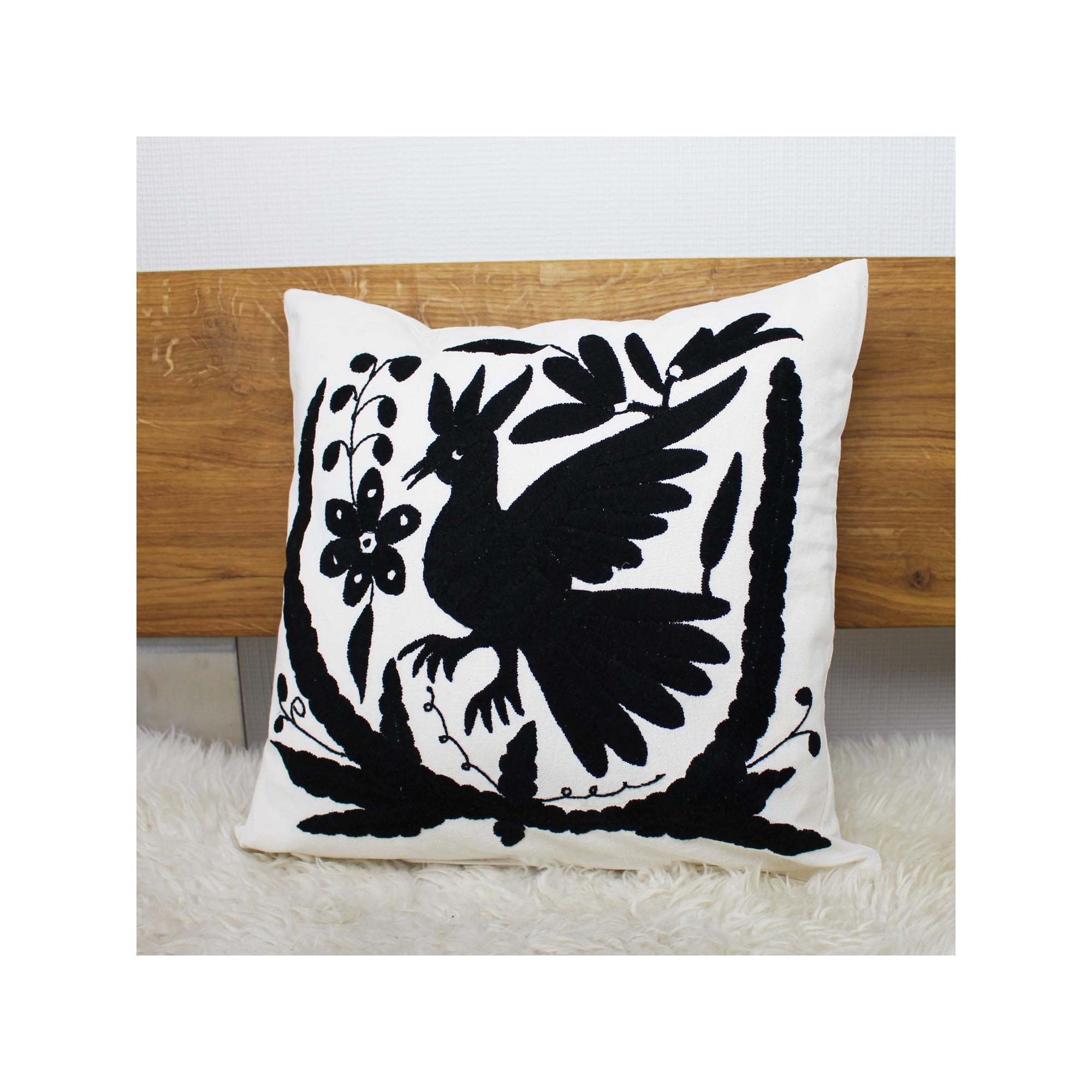 sofakissen vogel schwarz deko kissen 40x40 kaufen. Black Bedroom Furniture Sets. Home Design Ideas