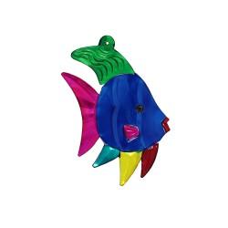 Wanddeko Fisch blau 11cm, Dekoanhänger