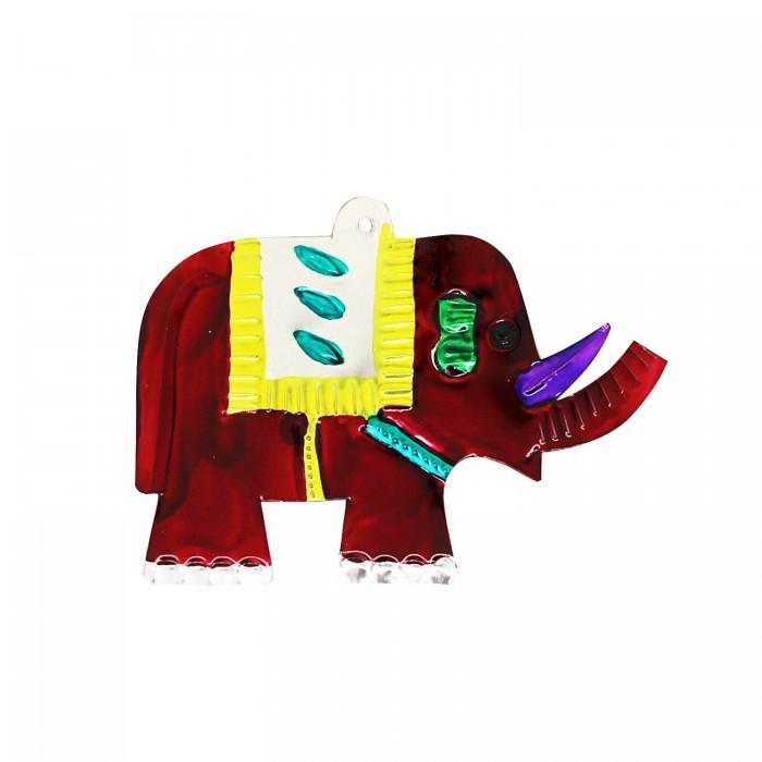 Wanddeko Elefant rot 11cm, Dekoanhänger