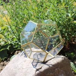 Geometrisches Terrarium aus Glas, Kugel, Vase für Sukkulenten