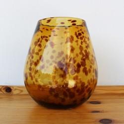 Dekovase Carey, Mungeblasenes Glas (H: 21 cm)