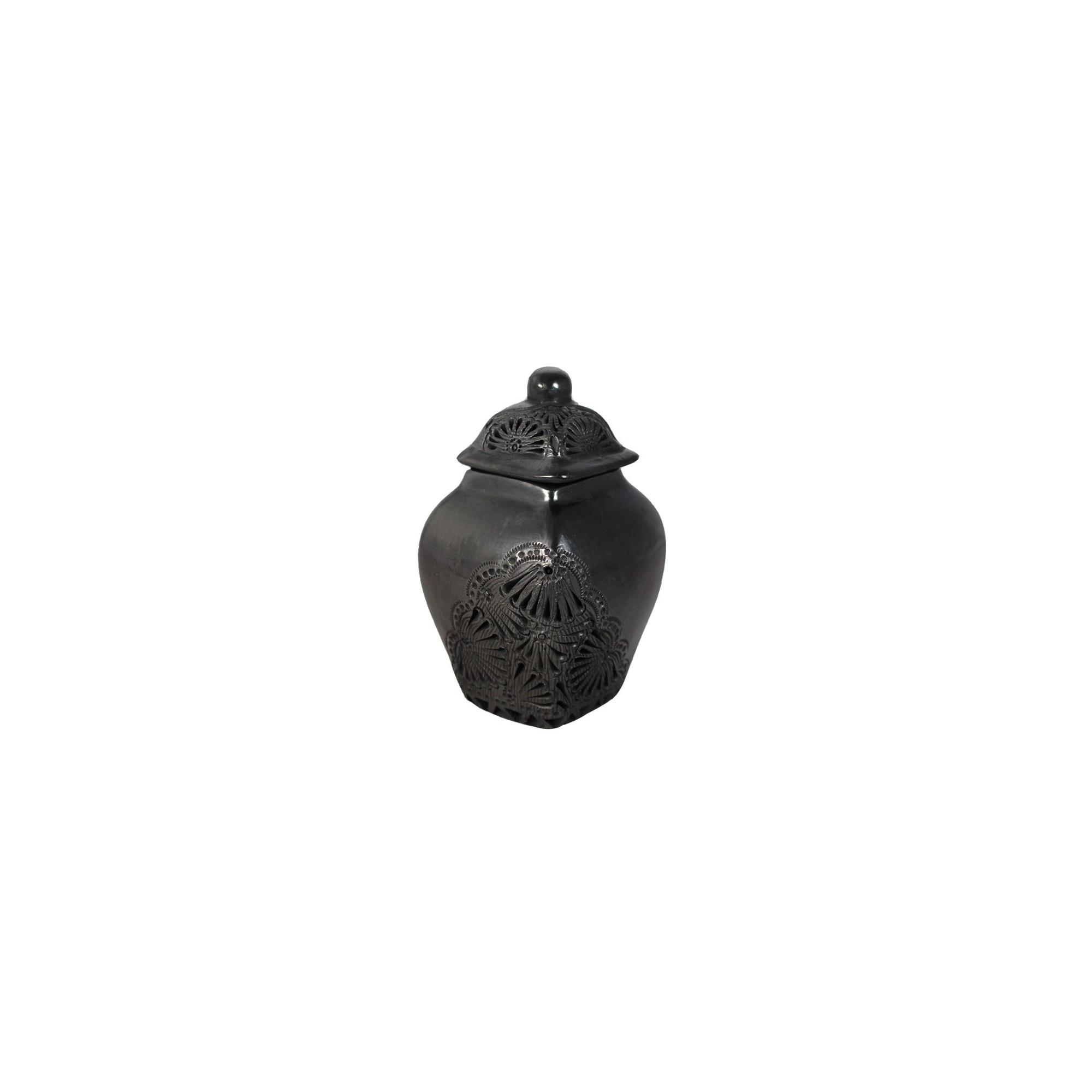 schwarze deko vase mit deckel schwarze keramik quot bonito quot kaufen