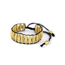 Armband aus goldenen Papierperlen   Schmuck