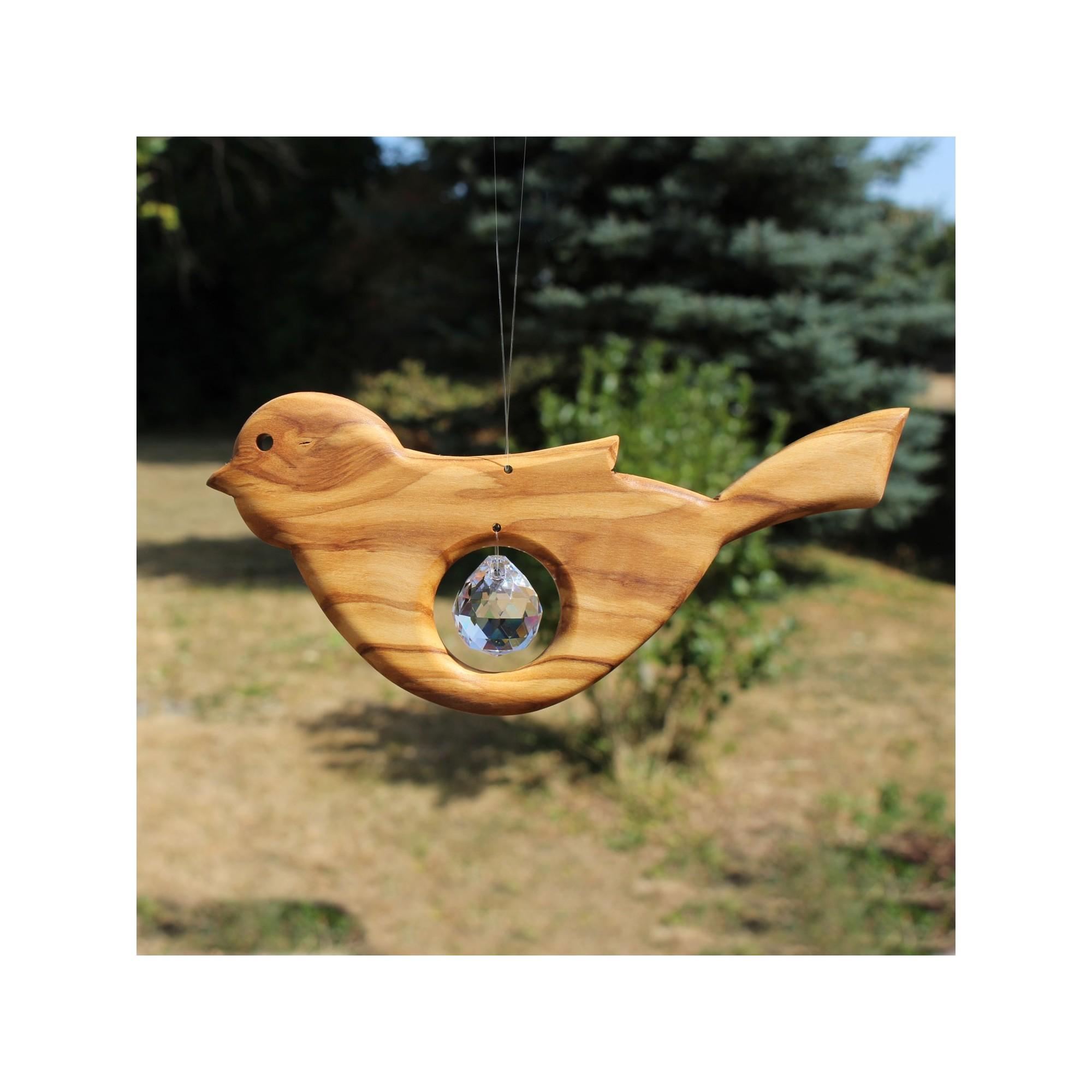 fensterdeko vogel aus holz mit bleikristall kaufen. Black Bedroom Furniture Sets. Home Design Ideas