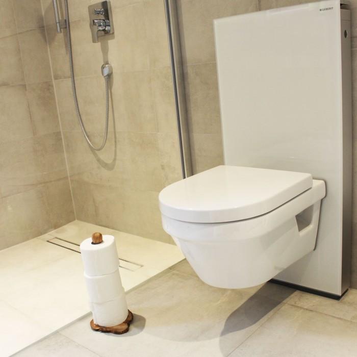 Toilettenrollen-Ständer Olivenholz / Aluminium