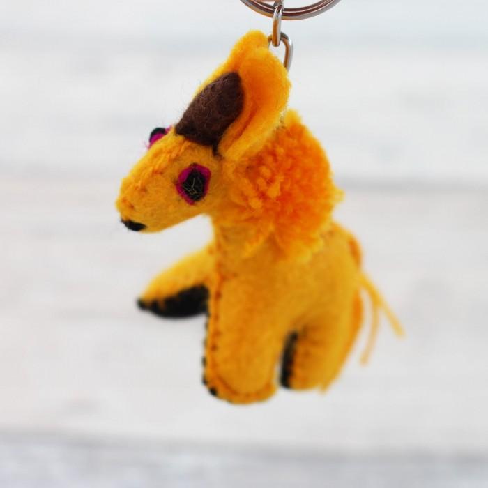 Schlüsselanhänger Einhorn - gelb