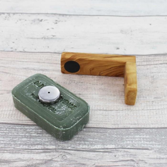 Magnetseifenhalter aus Holz