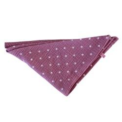 Dreieckstuch pink mit Sternen - Musselinschal für Mädchen