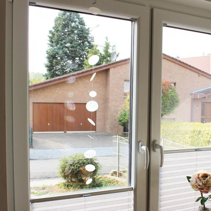 Fensterdeko Muschelgirlande weiß 100cm