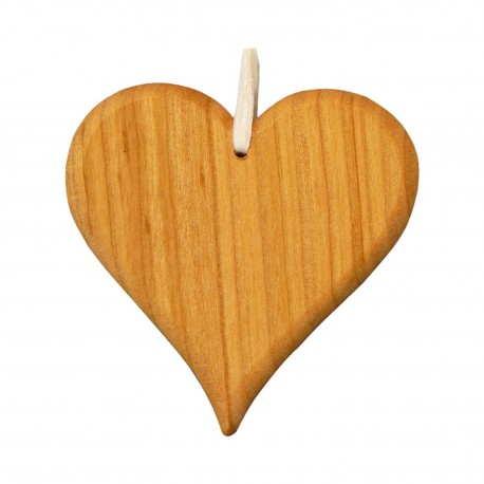 Christbaumschmuck aus Holz - Herz