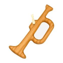 Christbaumschmuck aus Holz - Trompete