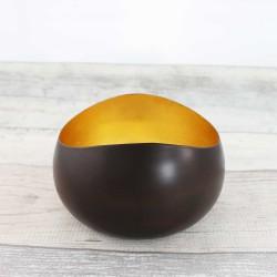 Teelichthalter | Goldlicht Swing bronzen/golden 14cm