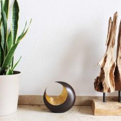 Teelichthalter | Luna bronzen/golden 14,5cm