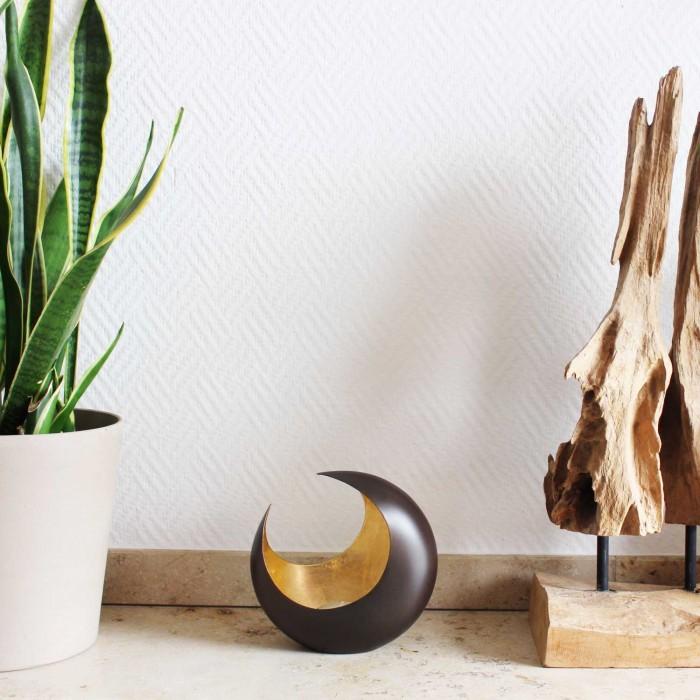 Teelichthalter   Luna bronzen/golden 14,5cm