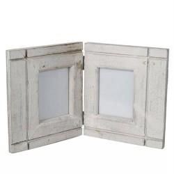 Holz-Bilderrahmen 2-teilig weiß