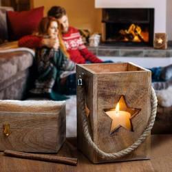 Laterne mit Stern- Weihnachtsdeko