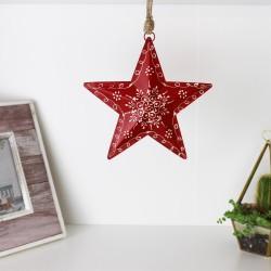 Sternhänger mit Muster - Weihnachtsdeko