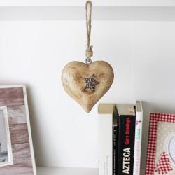 Herzhänger mit Stern - Weihnachtsdeko