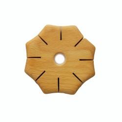 Knüpfscheibe aus Holz