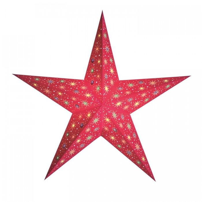 """Papierstern """"starlet rot""""   Weihnachtsstern beleuchtet"""