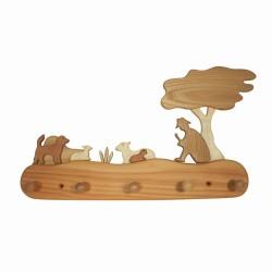 Kindergarderobe aus Holz 5 Haken - Schäfer