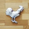 Handtuchhalter Hahn aus Zinn , Küchenhelfer
