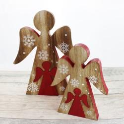 Engel rot Weihnachtsdeko 23cm