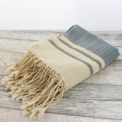 Tunisian Fouta and Towel - Gold braun