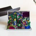 Mini Deko-Krippe aus Blech 5cm - Krippen