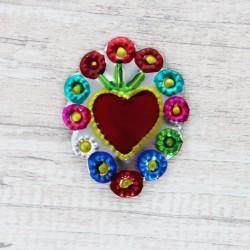 Kühlschrankmagnet Herz - Blume