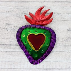 Kühlschrankmagnet Herz lila
