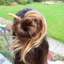 Haarstab aus Holz , Natürlicher Haarschmuck