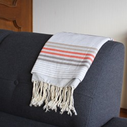 Tunisian Fouta and Towel - grau