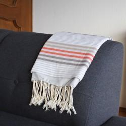 Tunisian Fouta and Towel - grau