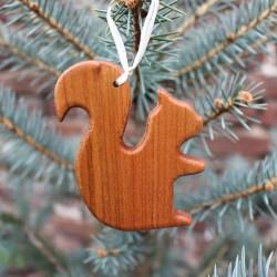 Christbaumschmuck aus Holz | Eichhörnchen | Geschenkanhänger